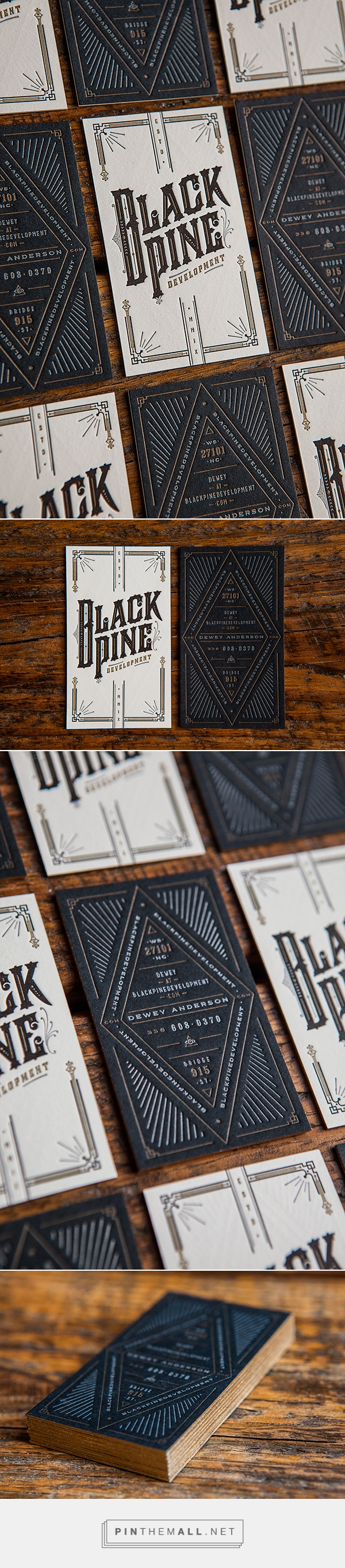 BlackPine Development Business Card Design by Device Creative Collaborative