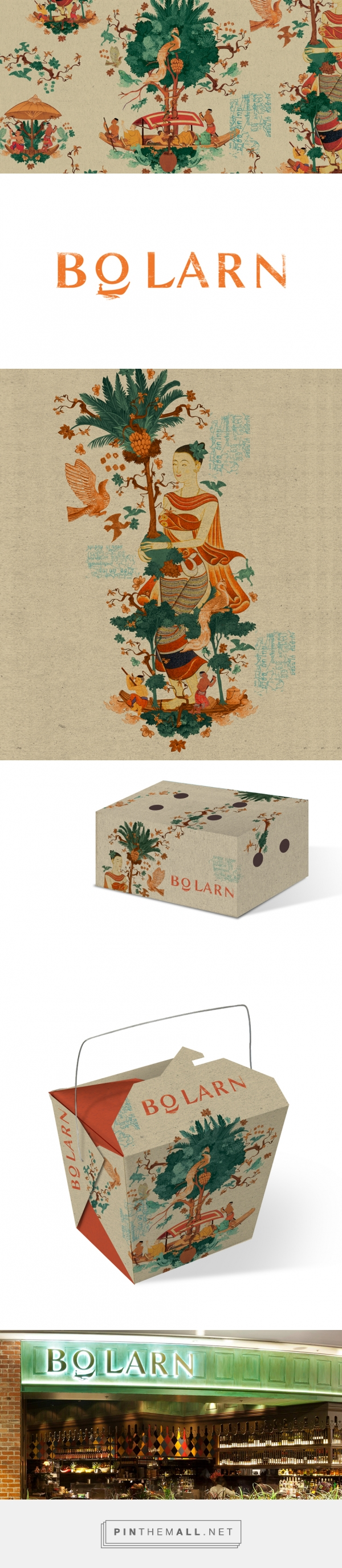Bo larn vintage thai restaurant branding and packaging by for Antique thai cuisine