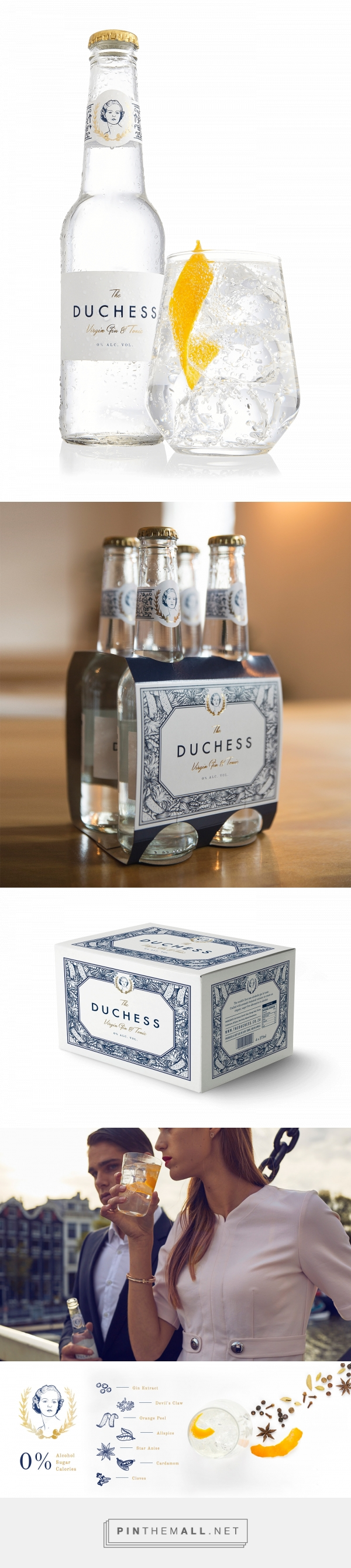 The Duchess Virgin Gin & Tonic Packaging by Fanakalo | Logo Designer ...