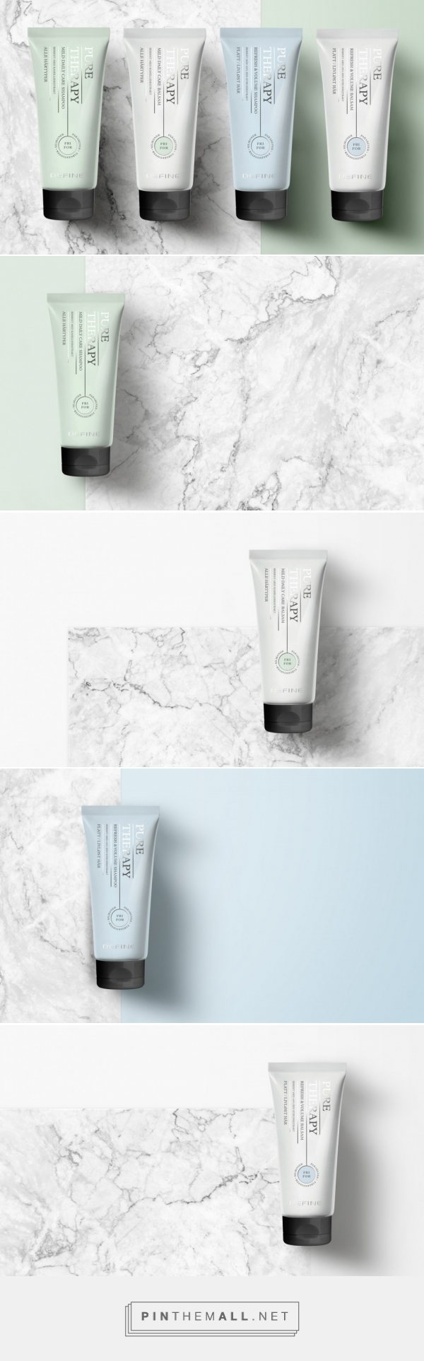 Pure Therapy Hair Care Packaging by Anti
